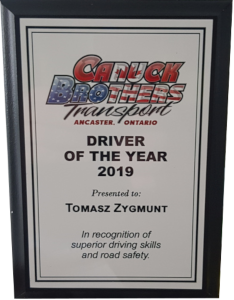 Driver of the year 2019 award